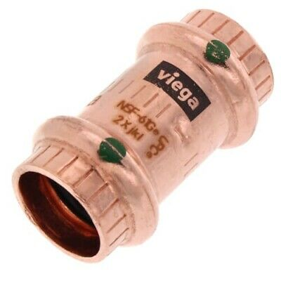 10 Pack Of Viega 78047 12 Propress Copper Coupling Press Fitting With Stop