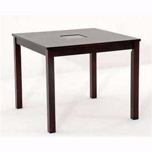 900 X 900 SQUARE DINING TABLE DARK CHOCOLATE WITH GLASS INSERT Thebarton West Torrens Area Preview