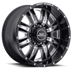 20x9 BMF REHAB Wheels - Death Metal Black 8x165.1 (8X6.5),  0mm (Set of 4)