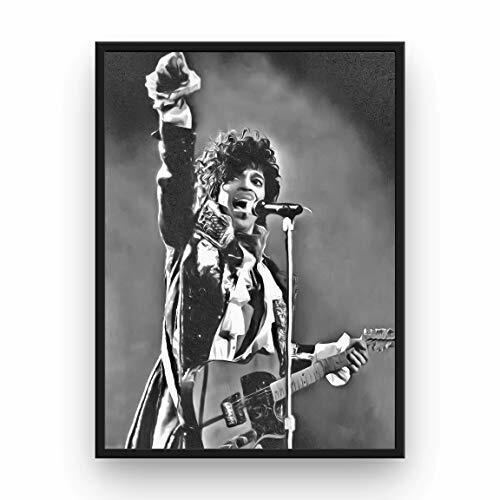 Prince Poster 13x19 Fine Art Canvas Black and White Wall Art