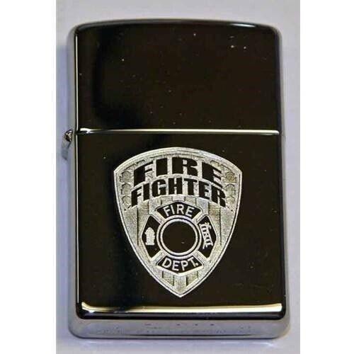 Zippo Lighter - Firefighter High Polish Chrome - 851957