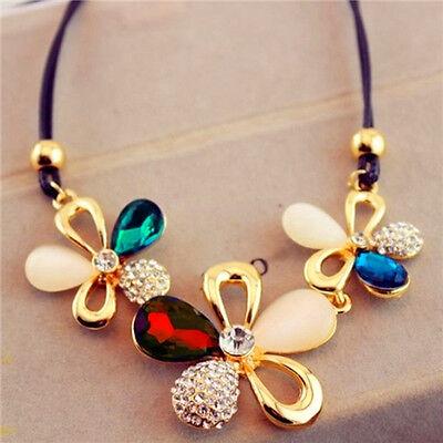 Fashion Jewelry Crystal Choker Chunky Statement Bib Pendant Necklace Chain