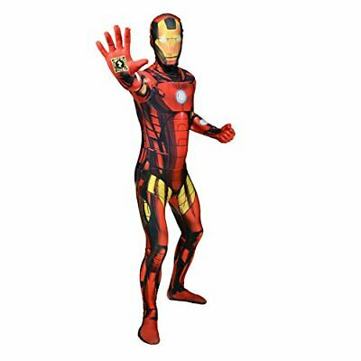 Official Iron Man Delux Digital Morphsuit Fancy Dress Costume - size Large - 5