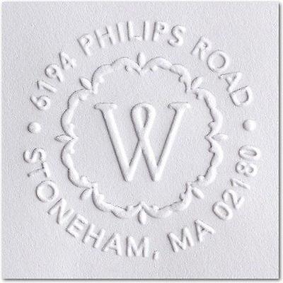 Custom Embosser Shiny Ez-seal Round Decorative Personalized Monogram Address