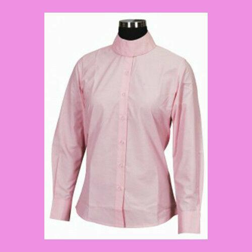 Tuffrider Kids Long Sleeve Show Shirt PINK size 8