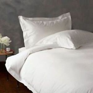 DUVET COVER SET EMPEROR SIZE WHITE SOLID 800 THREAD COUNT 100% EGYPTIAN COTTON