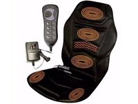 MASSAGE CHAIR HEATED BACK SEAT MASSAGER CUSHION FOR CAR, HOME , WORK,GREAT FOR BACK PROBLEMS