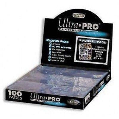 100 ULTRA PRO PLATINUM 9-POCKET Card Pages Sheets Protectors 1 Box (100 Ultra Pro Platinum 9 Pocket Sheets)