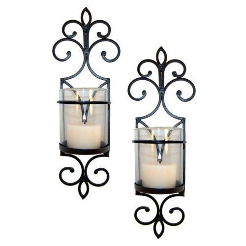 Glass Candle Wall Sconces Ebay