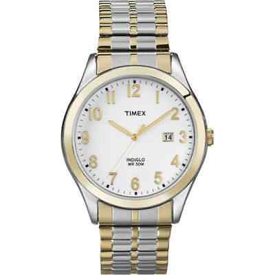 Timex T2N851, Easy Reader, Men's, 2-Tone Expansion, Indiglo, Date