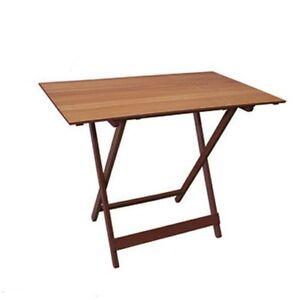 Tavoli tavolo pieghevole per giardino terrazzo in noce for Tavolo per terrazzo