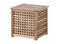 Ikea Hol Side Table Laundry basket storage