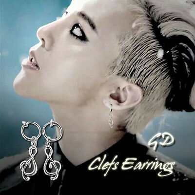 BigBang GD Gdragon Clefs Earrings KPOP Style Made In Korea Hot Item 1Pair