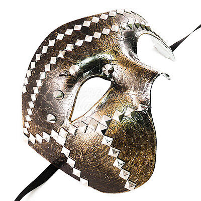 Gold/Schwarz Halbschuhe Mardi Gras Masquerade Mask Halbes Gesicht