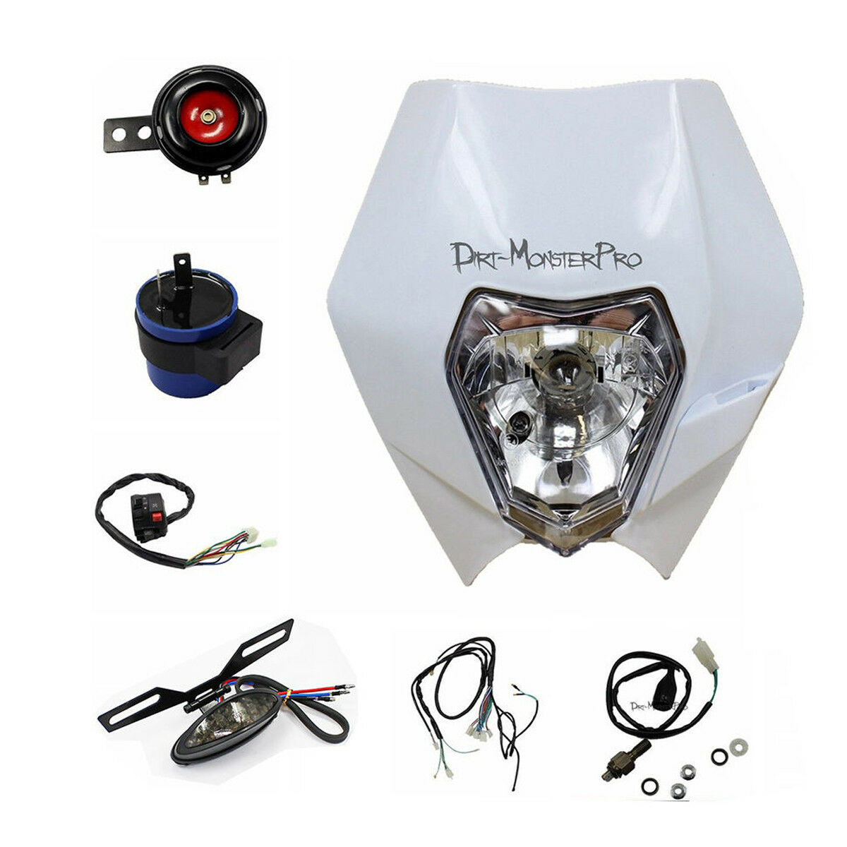 White Rec Reg Head Tail Light Kit For Yamaha Yz450 Wr450 Wr250 Dirt Wr250f Wiring Diagram Bike Pit
