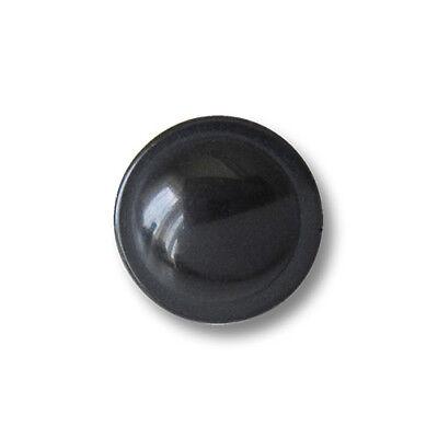 Kleine, Runde Ösen (10 bezaubernde kleine schwarz glänzende Ösen Kunststoffknöpfe (5902sc-11))