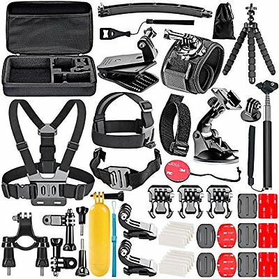 Neewer 50-In-1 Action Camera Accessory Kit for GoPro Hero 4/5 Session, Hero Yi