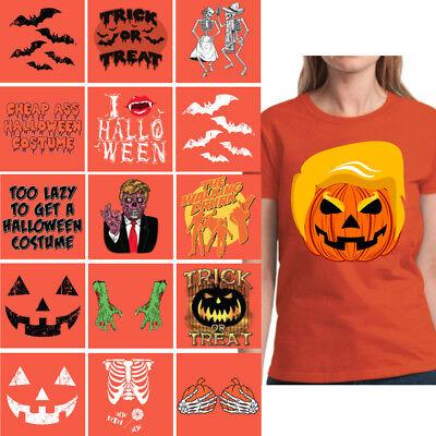 Halloween Shirts for Women Trumpkin Women's Shirt Trick or Treat Pumkin Party