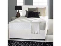 BLUE GEL FOAM DIVAN BED SET + MATTRESS + HEADBOARD SIZE 3FT 4FT6 Double 5FT King