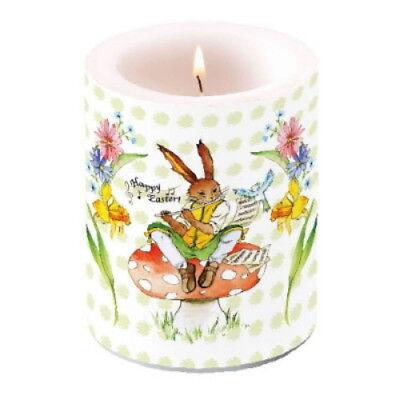 Große Lampion - Kerze Windlicht Wachslaterne * Easter Song * Ostern Hasen