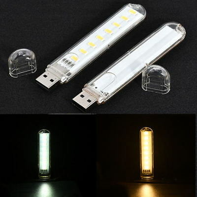 Mobile Power USB LED Lampe 8 Leds LED Lampe Beleuchtung Computer Nachtlicht Usb-led-lampe