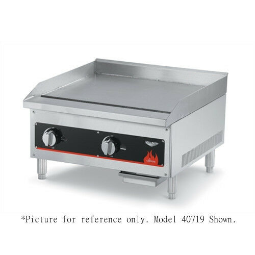 "Vollrath 40719 18"" Countertop Gas Cayenne Griddle - 28,000 Btu"