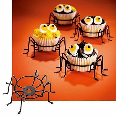 Spider Cupcake Holders ~ CASE LOT 24 Sets of 4 ~ For Spooky Halloween Fun! (Fun Halloween Cupcakes)