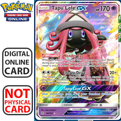 Tapu Lele GX 60/145 Guardians Rising for Pokemon TCG Online Digital.