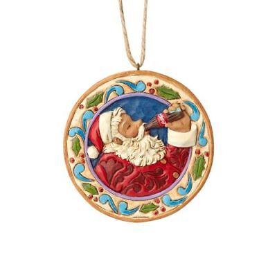 New Enesco Coca-Cola By Jim Shore Santa Ornament