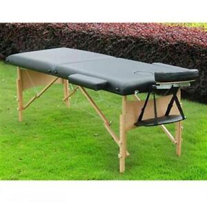 SALE @  WWW.BETEL.CA || Premium Portable Mobile Massage Table - Black with Accessories