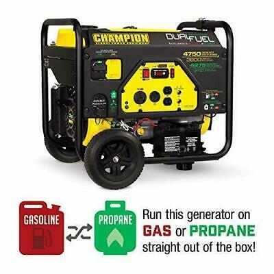 Power Generator Champion 3800watt Dual Fuel Rv Ready Portable Electric Start-new