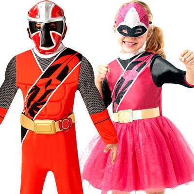 ower Rangers Kids Fancy Dress Superhero Childrens Costumes (Deluxe Power Rangers Kostüm)