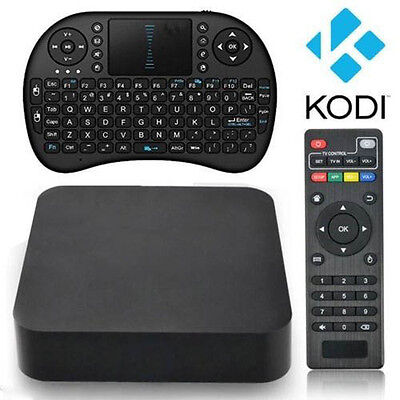 MX Quad Core 4.4 Android Smart TV BOX  Fully Loaded 1080P WiFi US STOCK