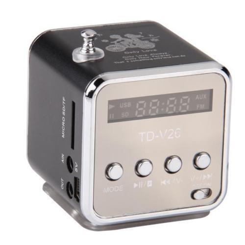 Portable Mini Speaker Music Player FM Radio MicroSD TF USB M