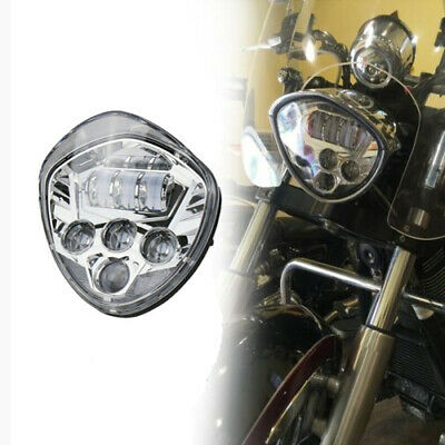 MOTORCYCLE CHROME LED HEADLIGHT FOR <em>VICTORY</em> MAGNUM HAMMER VEGAS KINGPI