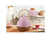 Kettle pastel pink and 2 Slice Toaster-Collection only