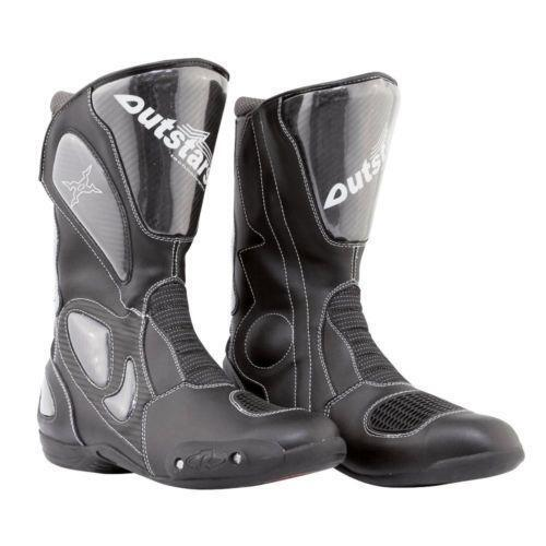 mens leather motorcycle boots ebay