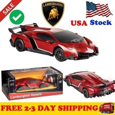 1/24 Scale RC Car Toys Remote Control Lamborghini Veneno Gravity Sensor Radio .. for sale  USA