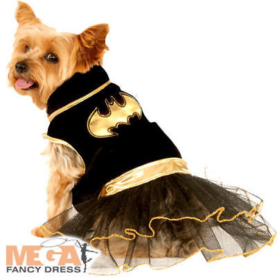Batgirl Dog Fancy Dress Halloween Superhero Bat Man Comic Book Puppy Pet Costume (Halloween Dog Book)