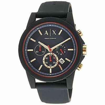 Armani Exchange Men's Ax1335 Grey Silicone Quartz Sport Watch