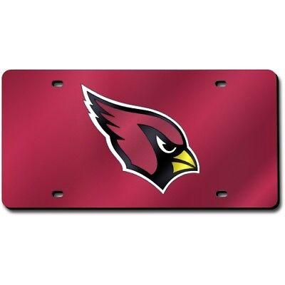 Arizona Cardinals NFL Mirror Look LASER License Plate