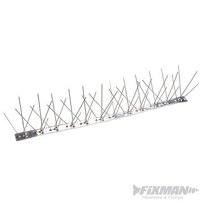 GU1827 Fixman Metal Bird Spikes 10 pack 500mm (4 Spike) Ironmongery Pest Control