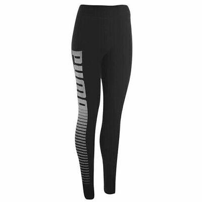 New Women's PUMA Logo Leggings Black Size 10