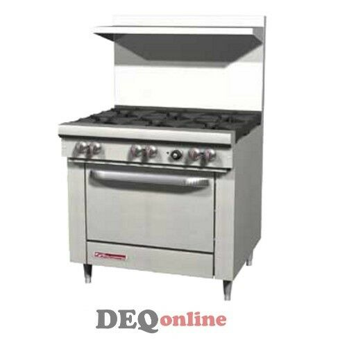 "Southbend S36d 36"" Gas Range W/ Standard Oven & 6 Open Burners"