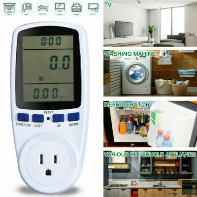 Safe Digital Power Saving Energy Monitor Watt Amp Volt Kwh Meter Analyzer Hot