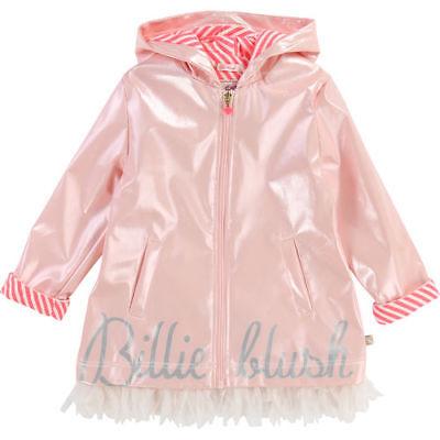 BILLIEBLUSH Mädchen Regenmantel mit Kapuze U16177 Kinder Regenkleidung rosa NEU ()