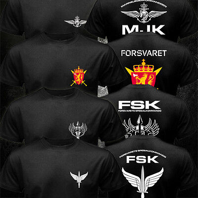 - New Norwegian Norway Army Special Forces Forsvarets Spesialkommando FSK T-shirt