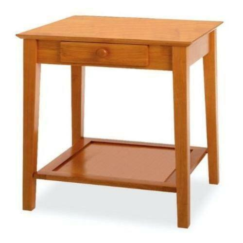 Wooden Printer Tables ~ Printer stand wood ebay