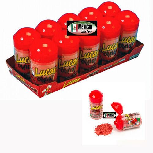 Lucas Baby Chamoy powder  Mexican candy 10-pcs 7-oz box