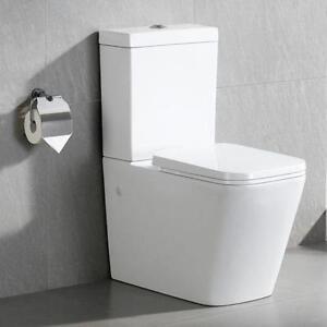 close coupled toilet ebay. Black Bedroom Furniture Sets. Home Design Ideas